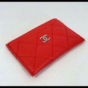 Chanel VIP RED CAVIAR CARD HOLDER
